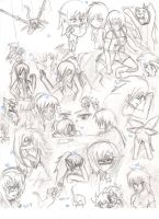 Random sketch page 2 by SweetSnake3