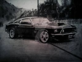 1969 mustang boss  by Mustafa-dark