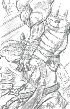 Hulk vs. Kratos: A New Age of Angry  -Pencils- by ENERjAKzero
