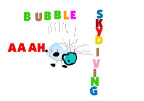 Bfdi Bubble Skydiving by eviegoo123