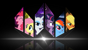 Mane 6 Wallpaper by InfernuZ