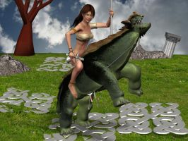 Barefoot Dancer Slays Dragon by XNS