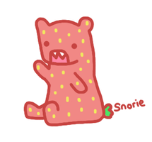 strawberry bear by snorasaurus
