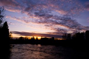Sunset over the Kalajoki River by Pasquali