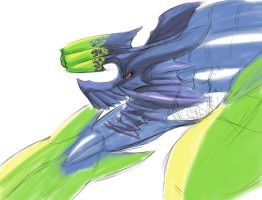 Brachydios - Partial doodle by SpeedyHimura