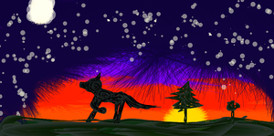 Birthday Sunset for REDWOLF076 by fuzzybutts108
