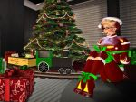 Mistress Claus in Christmas bondage by MollyFootman