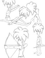 Sideshow Bob sketches by Nevuela