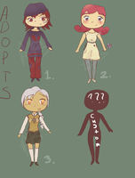OPEN Adoptables - 15 points by AlbinoBadger