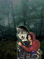 RedRidingHood+Wolf_The Woods by JasmineAlexandra