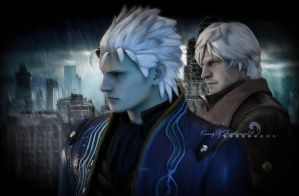 Sons of Sparda ( Dante and Verjil) 2 -DMC4 by kingofshadows26