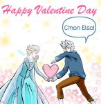 Happy valentines day Jack Frost and Elsa Arendelle by KYOooTERCERA