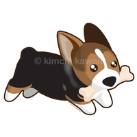 Kawaii Corgi by kimchikawaii