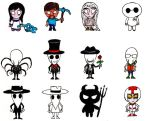 Characters in Don't Starve by Drakana666