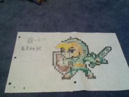 8-Bit Link Drawing by TheKnownManatee