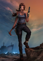 Lara Croft by vest