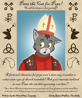 Peter the cat for pope! by GuineaPigDan