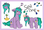 Sea Drop Small Ref [Commission] by lavacookiie