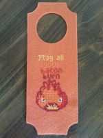 Door Hanger Curse: Calcifer by Sew-Madd