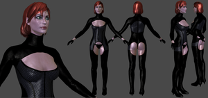 Femshep Dancer (HD) W.I.P. by TheRaiderInside