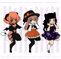 Halloween bbdopts by LittleMacarons