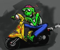 Zombie scooterboy by Wagsdown