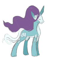 Suicune Pony Sketch by shinylugiacat