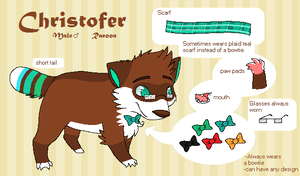 Christofer Reference Sheet by SpunkyRacoon