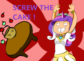 MLP Princess Cadence : SCEW THE CAKE by loveyourinnergeek