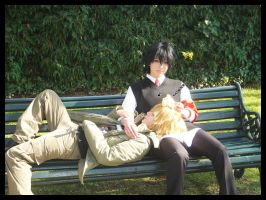 Dino and Hibari Cosplay by D3ra