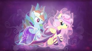 Fluttershy Ponies Rainbow Dash My Little Pony Frie by Sevelina10
