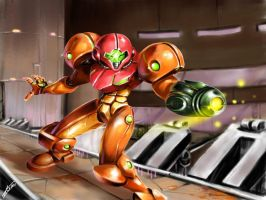 My first completed Metroid fan-art~ by TomycaseTheSame