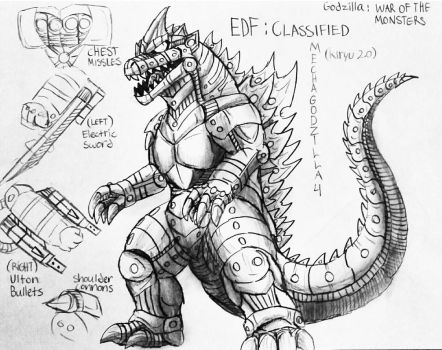 Godzilla : War Of The Monsters : Kiryu 2.0 File by Erickzilla