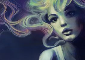 Painting practice - Cotton cloud candy by se6Felicia