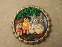 Totoro Bottle Cap by Sorenli