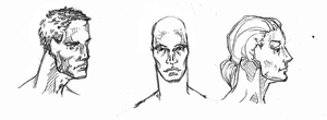 male and female faces: Tips by Cthulhu-Hungers