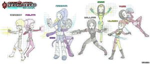 Code Lyoko Overpowered characters fighting by Nelbsia