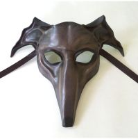 Greyhound Dog Leather Mask Sloughi Whippet Italian by teonova