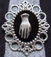 creepy hand pin by TheLovelyBoutique