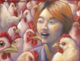 Sanghoon and the Chickens by jadress