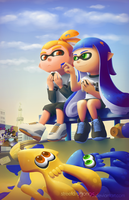 Splatoon Fanart: After the battle by streetdragon95