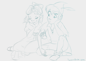 Daily Sketch: Wendy and Peter by luxandnox
