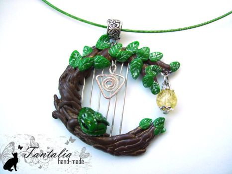 Necklace 'Music of the forest' by Tantalia