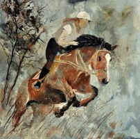 Jumping horse by pledent
