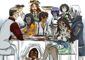 lunch party by RedFishing