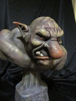 Troll bust finished by Blairsculpture