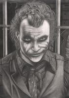 The Joker Graphite drawing by Pen-Tacular-Artist