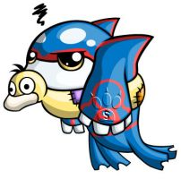 Kyogre Chibi by RedPawDesigns