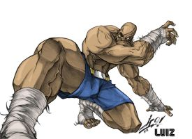 SAGAT ( The Muay Thai God) by zavalaluiz51