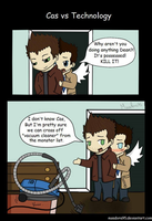 Cas vs Technology by MsAdora95
